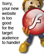 Web usability | Flash website is not always good.